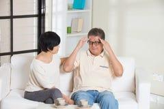 Couples aînés asiatiques Photo stock