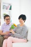 Couples aînés asiatiques Images libres de droits