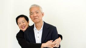 Couples aînés asiatiques heureux Succès dans les affaires et la vie, togher Image libre de droits
