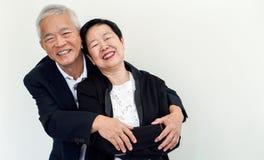 Couples aînés asiatiques heureux Succès dans les affaires et la vie, togher Image stock