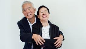 Couples aînés asiatiques heureux Succès dans les affaires et la vie, togher Photographie stock