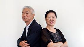 Couples aînés asiatiques heureux Succès dans les affaires et la vie, togher Photographie stock libre de droits