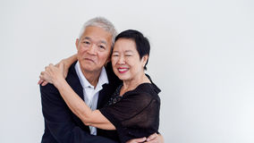Couples aînés asiatiques heureux Succès dans les affaires et la vie, togher Photos libres de droits