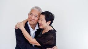 Couples aînés asiatiques heureux Succès dans les affaires et la vie, togher Photo stock