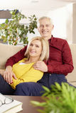 Couples aînés ayant l'amusement Images stock