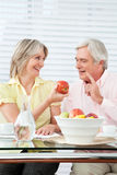 Couples aînés ayant sain Photos stock