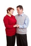 Couples aînés dans l'amour Photographie stock libre de droits