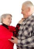 Couples aînés de danse Images libres de droits