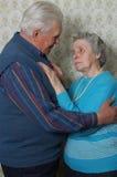 Couples aînés de danse Image libre de droits