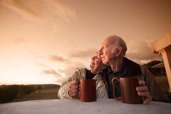 Couples aînés de sourire image stock
