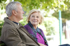 Couples aînés de sourire Photographie stock libre de droits