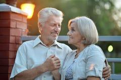 Couples aînés de sourire Images libres de droits