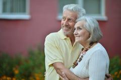 Couples aînés de sourire Photographie stock