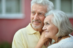 Couples aînés de sourire Photos stock
