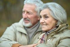 Couples aînés de sourire Image libre de droits