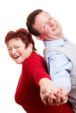 Couples aînés de sourire heureux Photographie stock libre de droits