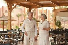 Couples aînés des vacances Image libre de droits