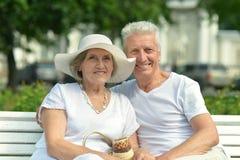 Couples aînés des vacances Images libres de droits