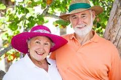 Couples aînés doux Images libres de droits