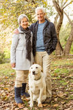 Couples aînés en stationnement Images libres de droits