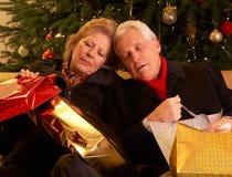 Couples aînés fatigués Image libre de droits