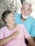 Couples aînés - grondant Images libres de droits