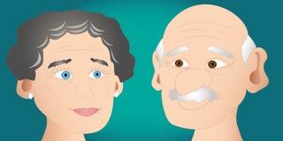 Couples aînés heureux illustration libre de droits