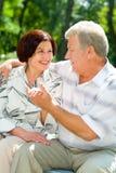 Couples aînés heureux Image stock