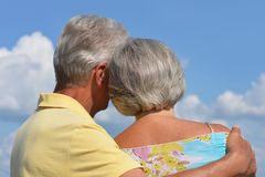 Couples aînés heureux Images libres de droits