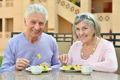 Couples aînés heureux Photographie stock libre de droits