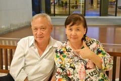 Couples aînés heureux Images stock