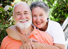 Couples aînés heureux sains Images libres de droits