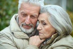 Couples aînés pensifs Image libre de droits