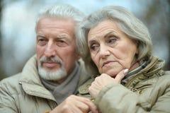 Couples aînés pensifs Images stock