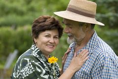 Couples aînés romantiques 2 Photos libres de droits
