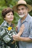 Couples aînés romantiques 2 Image libre de droits