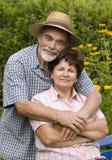 Couples aînés romantiques Photographie stock libre de droits