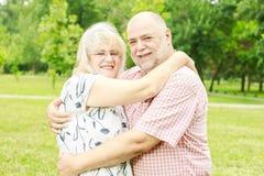 Couples aînés romantiques Images stock