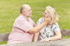 Couples aînés romantiques Photo stock