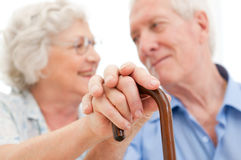 Couples aînés sereins Photo libre de droits