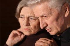 Couples aînés tristes Image libre de droits