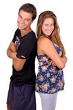 Couples adolescents images stock