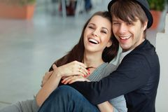 Couples adorables image libre de droits