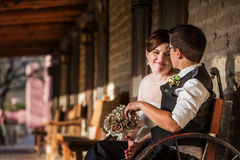 Couples adorables se reposant ensemble Photo stock