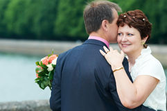 Couples adultes heureux Photo stock