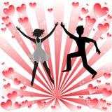 Couples affectueux illustration libre de droits