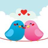 Couples affectueux d'oiseau illustration libre de droits