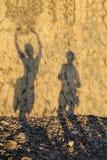 Couples affectueux d'ombre Photos libres de droits