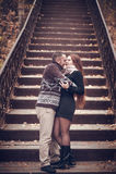 Couples affectueux dans l'amour Image stock