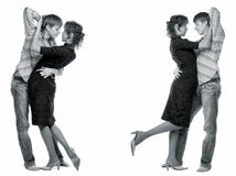 Couples affectueux de danse. Photo libre de droits
